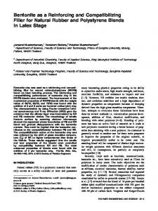 Bentonite as a reinforcing and compatibilizing filler for natural rubber