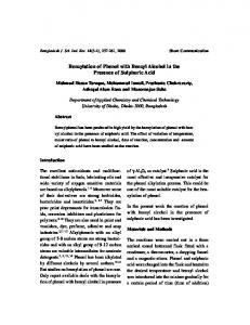 Benzylation of Phenol with Benzyl Alcohol in the Presence ... - CiteSeerX