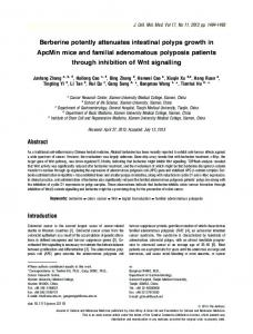 Berberine potently attenuates intestinal polyps ... - Wiley Online Library