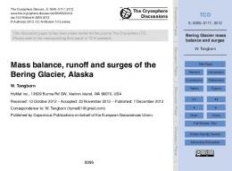 Bering Glacier mass balance and surges