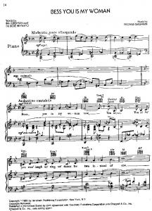 Bess You Is My Woman - New Piano Sheet Music