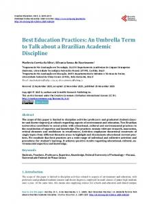 Best Education Practices - Scientific Research Publishing