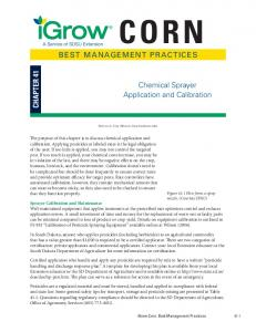 BEST MANAGEMENT PRACTICES Chemical Sprayer Application and ...