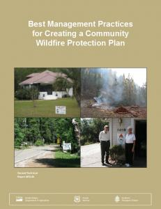 Best management practices for creating a community wildfire ...