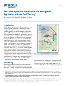 Best Management Practices in the Everglades Agricultural ... - CiteSeerX