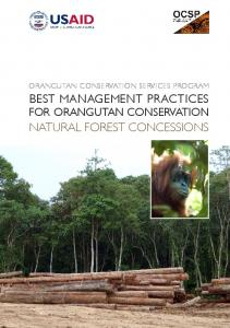 best management practices natural forest concessions - USAID