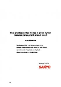 Best practice and key themes in global human resource management