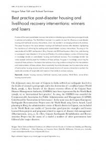 Best practice post-disaster housing and livelihood recovery ... - Alnap