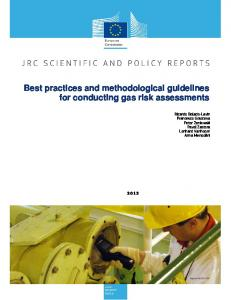 Best practices and methodological guidelines for conducting gas risk ...