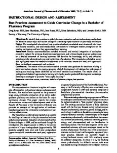 Best Practices Assessment to Guide Curricular Change in a Bachelor ...