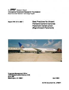 Best Practices for Airport Portland Cement Concrete Pavement ...
