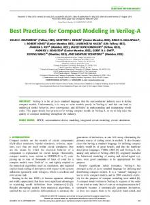 Best Practices for Compact Modeling in Verilog-A - IEEE Xplore