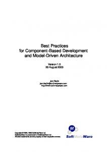 Best Practices for Component-Based Development and Model ... - S23M