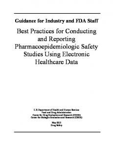 Best Practices for Conducting and Reporting - Food and Drug ...