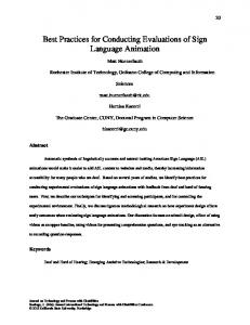 Best Practices for Conducting Evaluations of Sign Language Animation