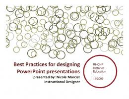 Best Practices for designing PowerPoint presentations presented by ...