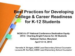 Best Practices for Developing College & Career Readiness for K-12 ...