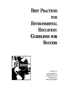 BEST PRACTICES FOR ENVIRONMENTAL EDUCATION ...