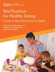 Best Practices for Healthy Eating: - Department of Public Health