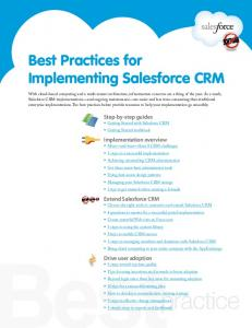 Best Practices for Implementing Salesforce CRM - Salesforce.com