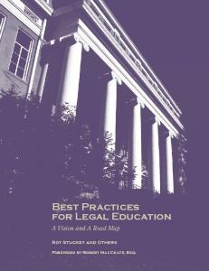 Best Practices For Legal Education