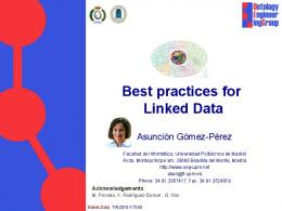 Best practices for Linked Data - W3C