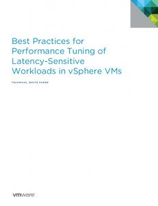 Best Practices for Performance Tuning of Latency-Sensitive - VMware