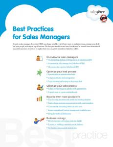 Best Practices for Sales Managers - Salesforce.com