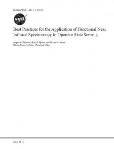 Best Practices for the Application of Functional Near Infrared ...