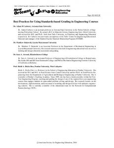 Best Practices for Using Standards-based Grading in ... - Asee peer