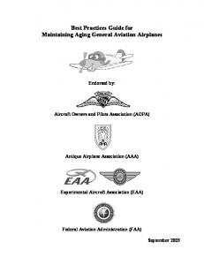 Best Practices Guide for Maintaining Aging General Aviation Airplanes