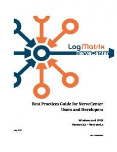 Best Practices Guide for NerveCenter Users and Developers