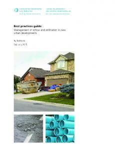Best practices guide: Management of Inflow and Infiltration in new ...