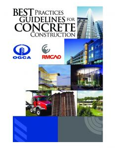 Best Practices Guidelines for Concrete Construction