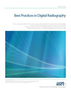 Best Practices in Digital Radiography