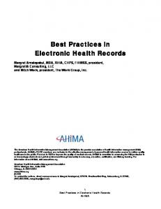 Best Practices in Electronic Health Records