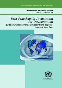Best Practices in Investment for Development How to ... - Unctad