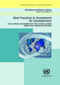 Best Practices in Investment for Development - Unctad