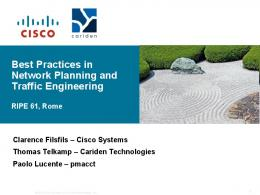 Best Practices in Network Planning and Traffic Engineering