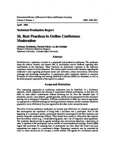 Best Practices in Online Conference Moderation - LearnTechLib