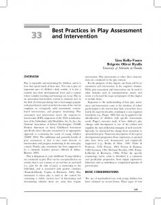Best Practices in Play Assessment and Intervention - CiteSeerX
