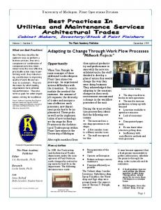 Best Practices In Utilities and Maintenance Services Architectural ...