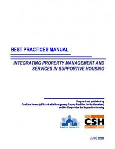 Best Practices Manual: Integrating Property Management and ...