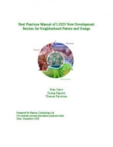 Best Practices Manual of LEED New Development Section for ...