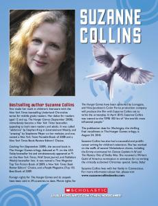 Bestselling author Suzanne Collins
