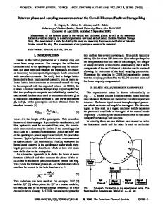 Betatron phase and coupling measurements at the ... - Cornell University