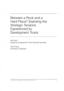 Between a Rock and a Hard Place? Exploring the Strategic Tensions ...