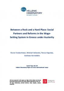 Between a Rock and a Hard Place - LSE