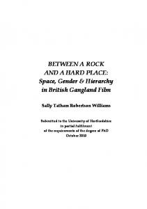 BETWEEN A ROCK AND A HARD PLACE: Space, Gender ...