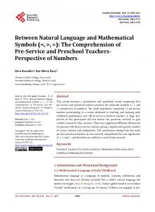 Between Natural Language and Mathematical Symbols - Scientific